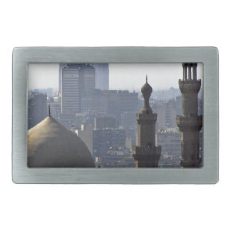 Minarets view of Sultan Ali mosque Cairo Rectangular Belt Buckle