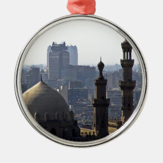 Minarets view of Sultan Ali mosque Cairo Silver-Colored Round Ornament