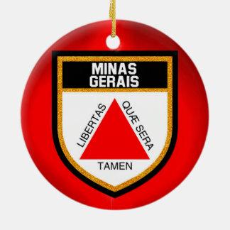 Minas Gerais Flag Ceramic Ornament