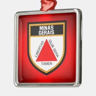 Minas Gerais Flag Metal Ornament