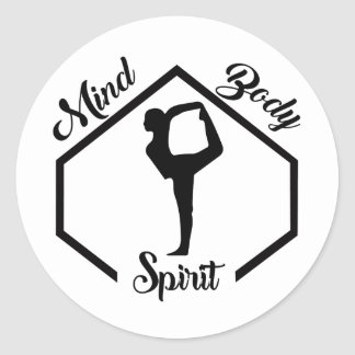 Mind, Body, and Spirit Classic Round Sticker