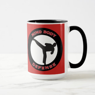 Mind Body Defense Mug Red Side