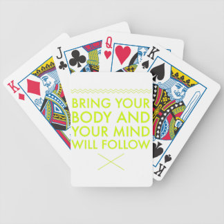 Mind Body Fellowship AA Meeting Recovery Bicycle Playing Cards