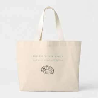 Mind Body Fellowship AA Meeting Recovery Large Tote Bag