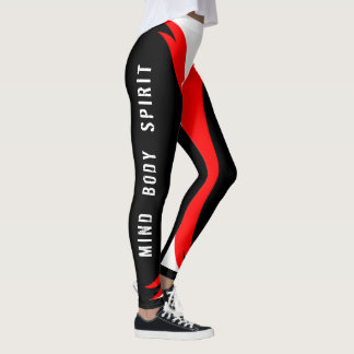 Mind, Body, Spirit - Born Warrior Leggings