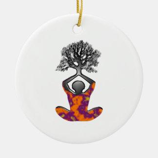 Mind, Body, Spirit Ceramic Ornament