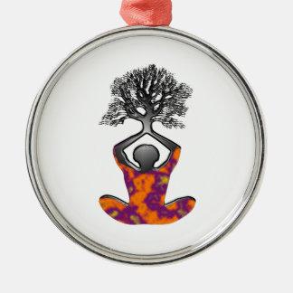 Mind, Body, Spirit Metal Ornament
