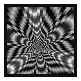 Mind-boggling Tunnel Optical Illusion Poster