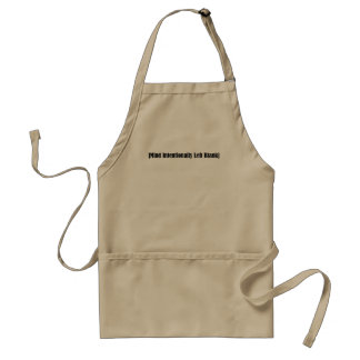 Mind Intentionally Left Blank Standard Apron