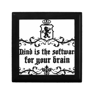 Mind Is A software For Your Brain Medieval quote Gift Box