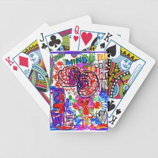 Mind  Matters Graffiti Bicycle Playing Cards