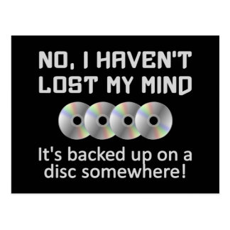 Mind On a Disc postcard