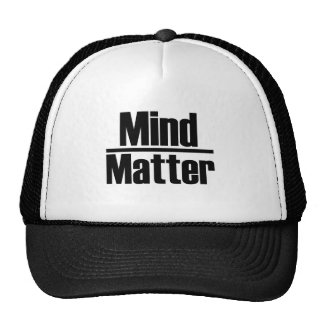 mind over matter trucker hat