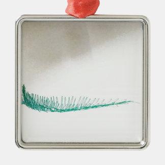 Mind Sailing Silver-Colored Square Ornament