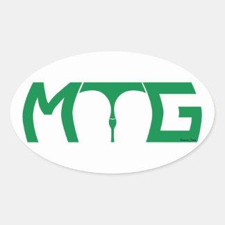 Mind the gap - green text sticker