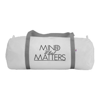Mind What Matters - White Yoga Bag
