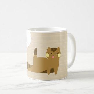 """Mind ya own business"" Cat Coffee Mug"