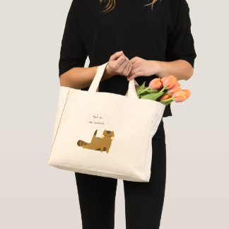 """Mind ya own business"" Cat Mini Tote Bag"