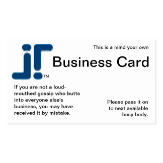 Mind Your Own Pack Of Standard Business Cards