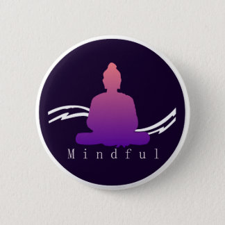 """Mindful"" Beautiful Buddha. 2 Inch Round Button"
