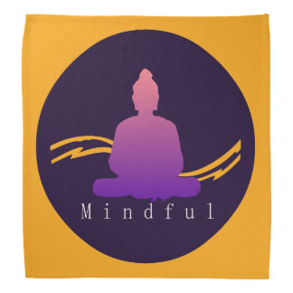 """Mindful"" Beautiful Buddha. Bandana"