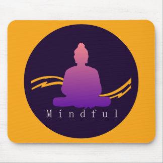 """""""Mindful"""" Beautiful Buddha. Mouse Pad"""