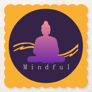 """""""Mindful"""" Beautiful Buddha. Paper Coaster"""