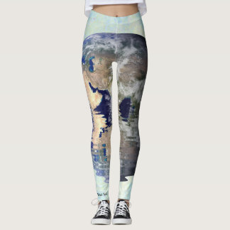 Mindful Pebble Planet Earth Leggings