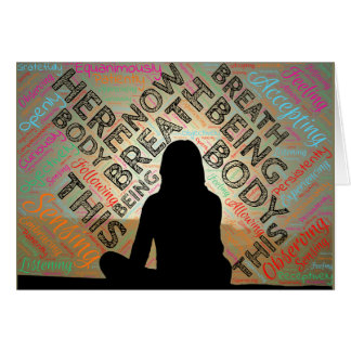 Mindfully Being With What Matters Card