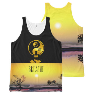 Mindfulness Gift JUST BE SunSet YOGA Meditation All-Over-Print Tank Top