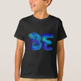 Mindfulness Tshirt JUST BE Neon Blue 3D GIFTS