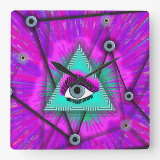 Mind's Eye Square Wall Clock