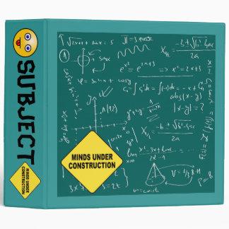 Minds Under Construction Geeky Stuff 3 Ring Binder