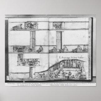 Mine argentée des Croix-aux.-Mines de La, Lorraine Poster