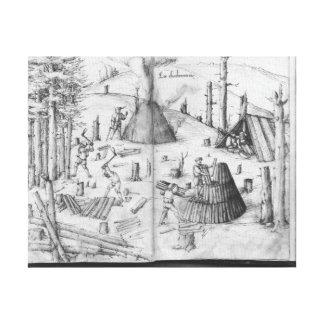 Mine argentée des Croix-aux.-Mines de La, Lorraine Toile Tendue Sur Châssis