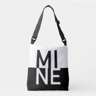 MINE Black & White Crossbody Bag