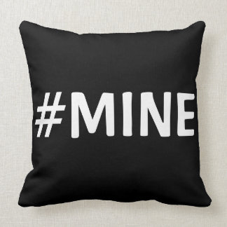 #MINE BLACK & WHITE PILLOW