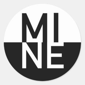MINE CLASSIC ROUND STICKER