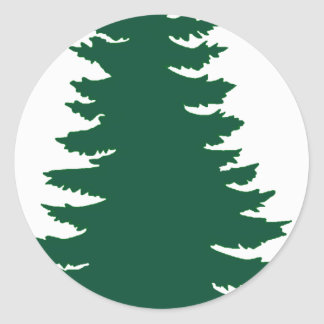 Mine Green Pine Classic Round Sticker