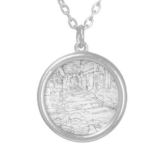 Mine interior silver plated necklace