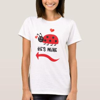Mine Ladybug Couple Women's Basic T-Shirt