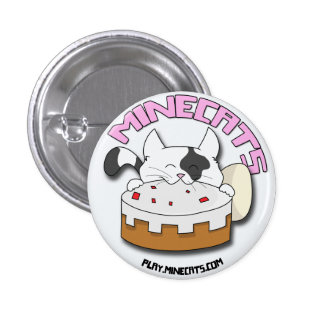 Minecats Cat and Cake button