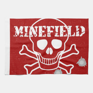 Minefield Sign Hand Towel