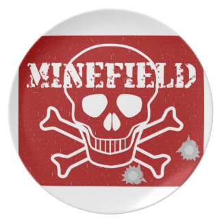 Minefield Sign Party Plates
