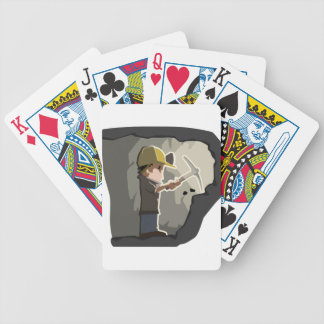 Miner Bicycle Playing Cards
