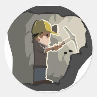 Miner Classic Round Sticker
