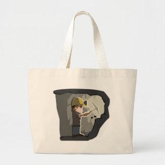 Miner Large Tote Bag