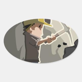 Miner Oval Sticker