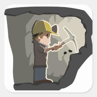 Miner Square Sticker