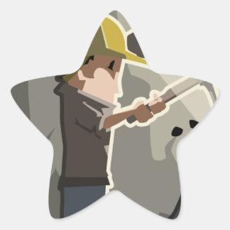 Miner Star Sticker